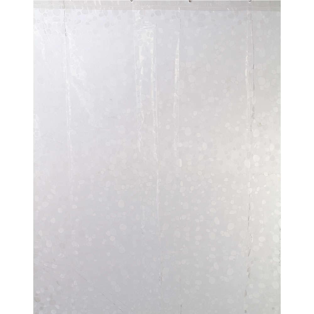 Κουρτίνα Μπάνιου Rain Eva 02-6846 Διάφανη Estia Φάρδος 180cm