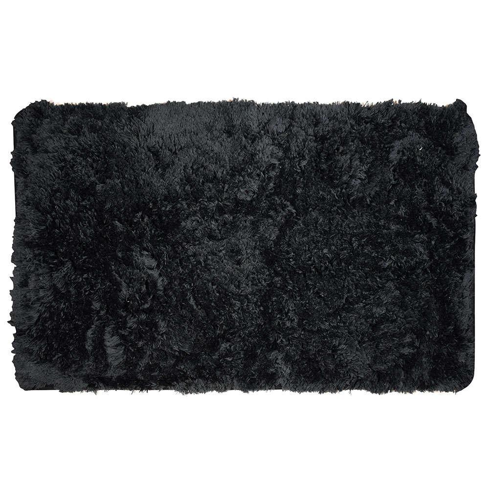 Ταπέτο Μπάνιου Fluffy 02-7409 Μαύρο Estia Large