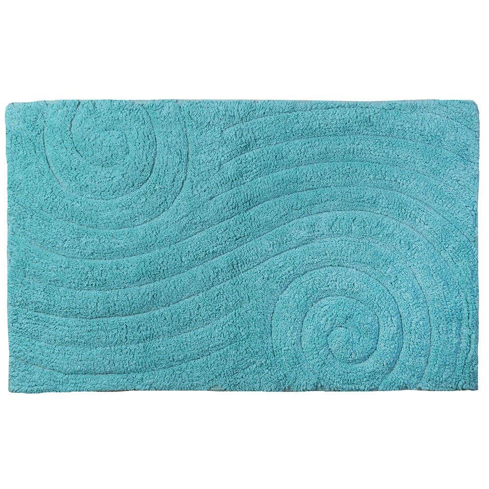 Ταπέτο Μπάνιου Maze 02-4262 Μπλε Estia Large