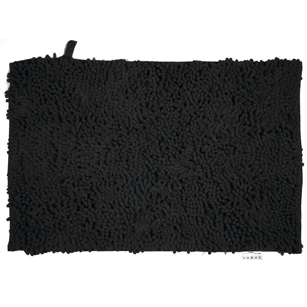 Ταπέτο Μπάνιου Velvet 02-7355 Μαύρο Estia Large