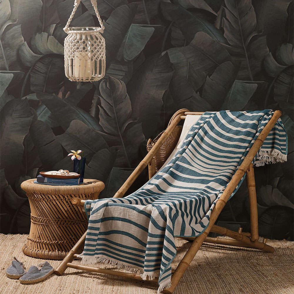 Πετσέτα Θαλάσσης – Παρεό Lombok B1 Blue-White Zucchi Θαλάσσης 90x170cm