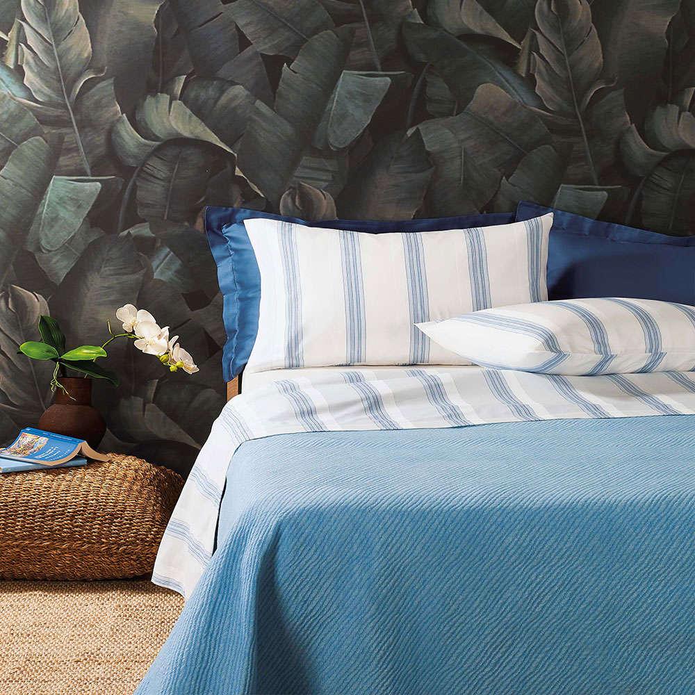 Σεντόνια Σετ 4τμχ Gili B1 Blue Zucchi King Size 250x280cm