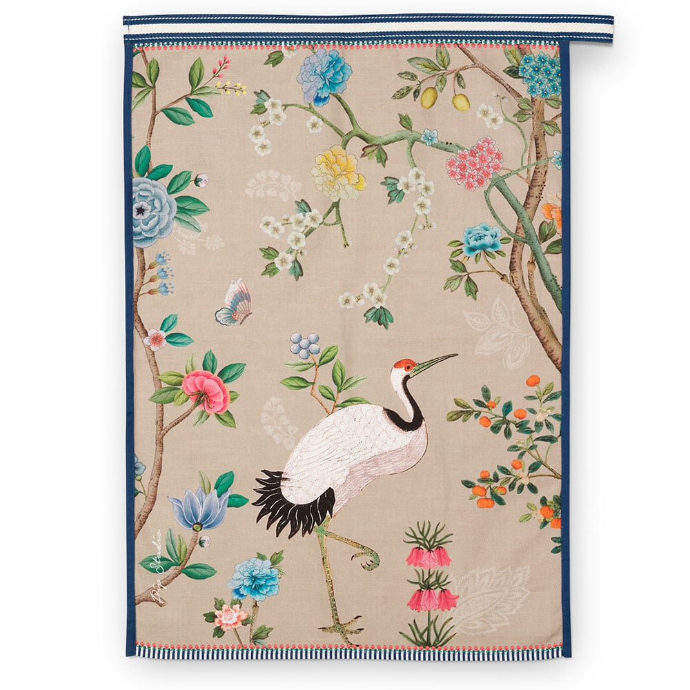 Πετσέτα Κουζίνας Βlushing Birds All Over 51031059 Khaki Pip Studio 50x70cm