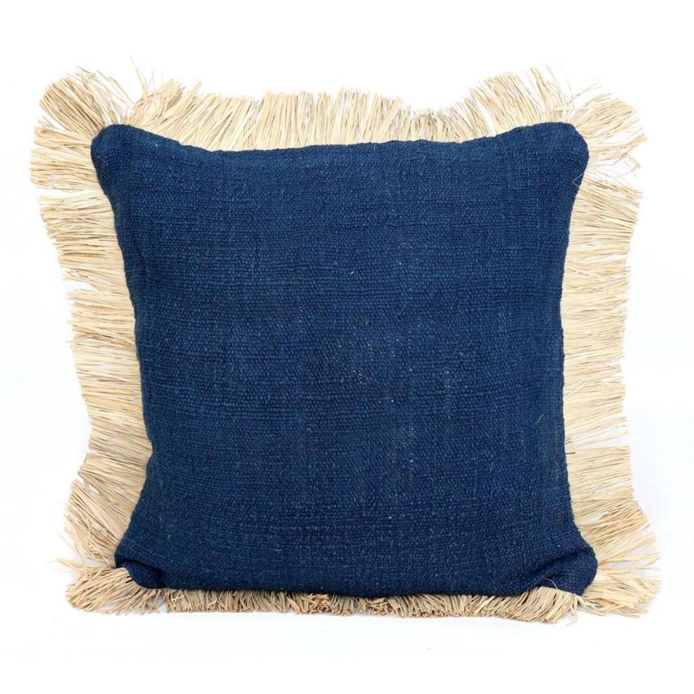 Διακοσμητική Μαξιλαροθήκη Saint Tropez JABR025BlueN Blue Natural Bazar Bizar 50X50 100% Βαμβάκι