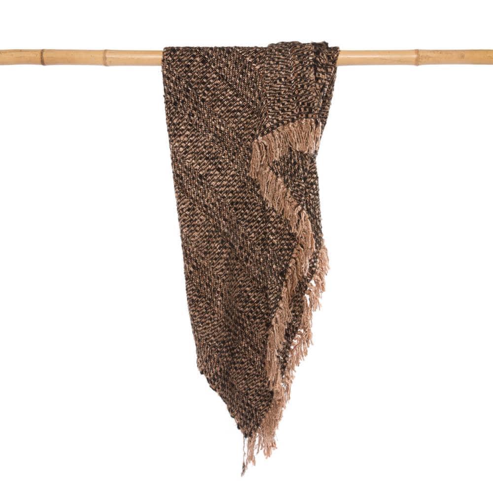Κουβέρτα Καναπέ S il Vous Plaid INIE002BCo Black Copper Bazar Bizar 150X180