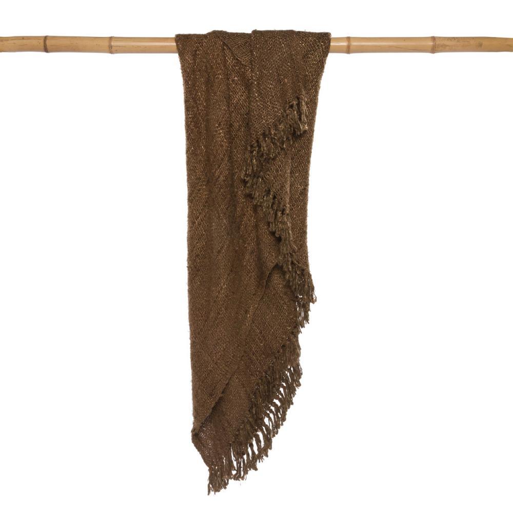 Κουβέρτα Καναπέ S il Vous Plaid INIE002Br Brown Bazar Bizar 150X180