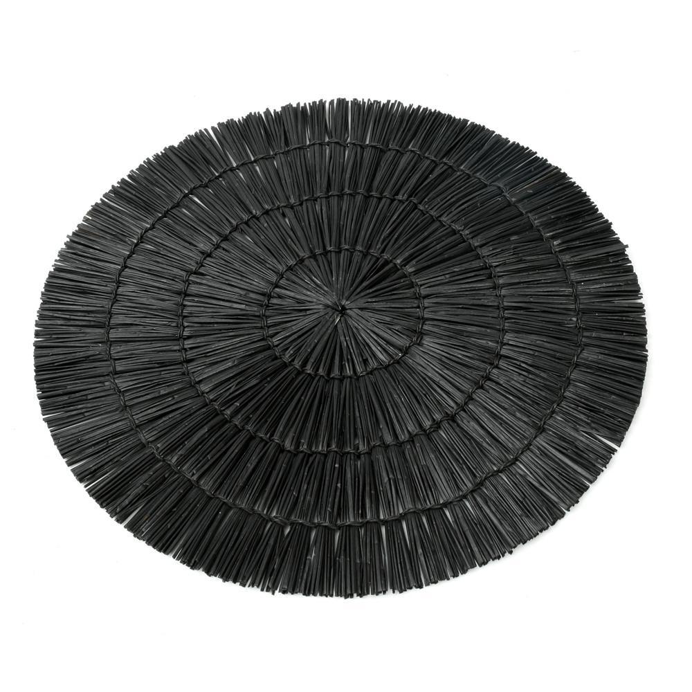 Σουπλά Alang Alang Round JAES003B-38 Black Bazar Bizar