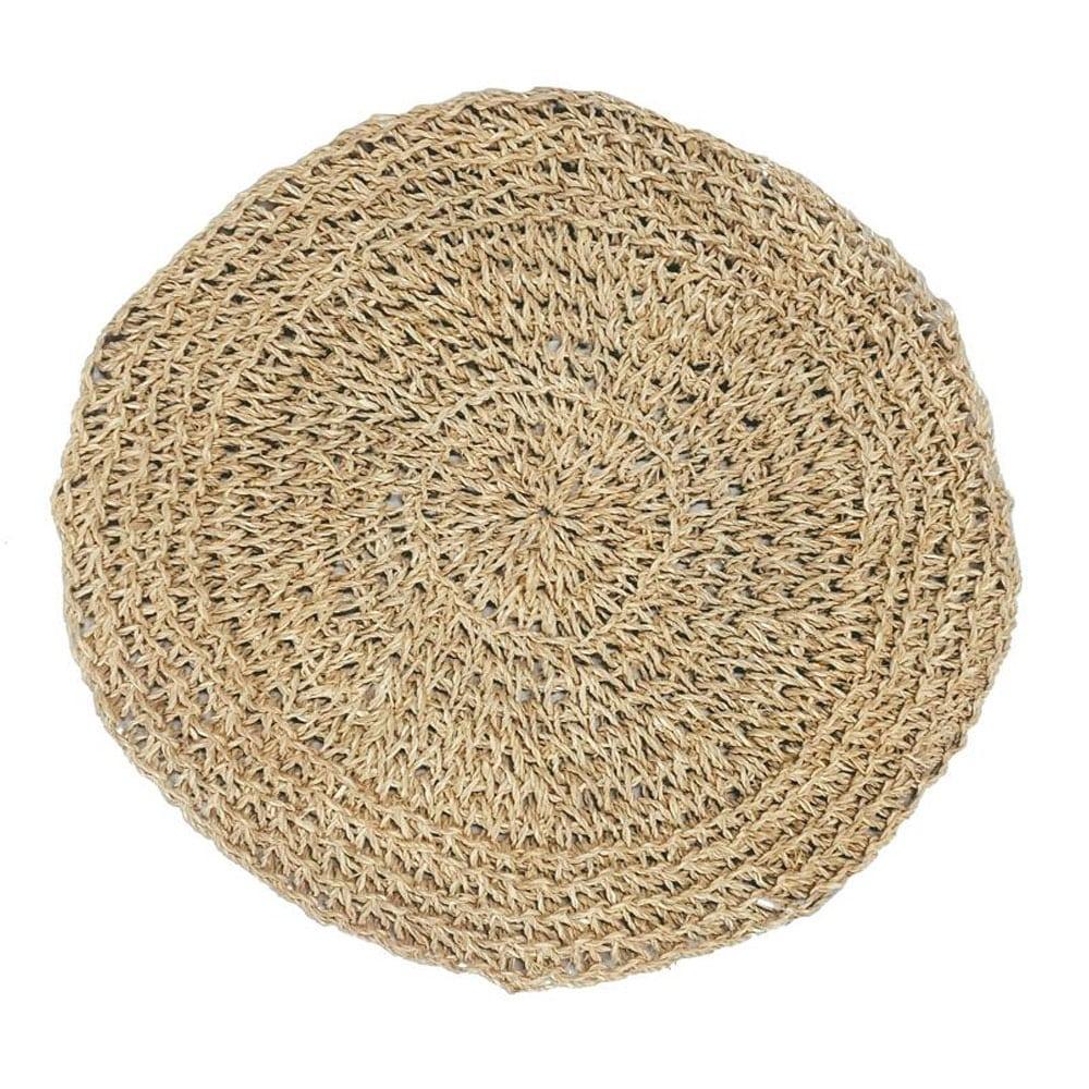 Σουπλά Seagrass Round BAJN010N Natural Bazar Bizar