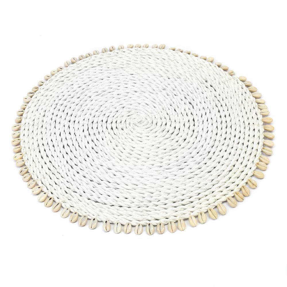 Σουπλά Seagrass Shell BAJN057W White Bazar Bizar