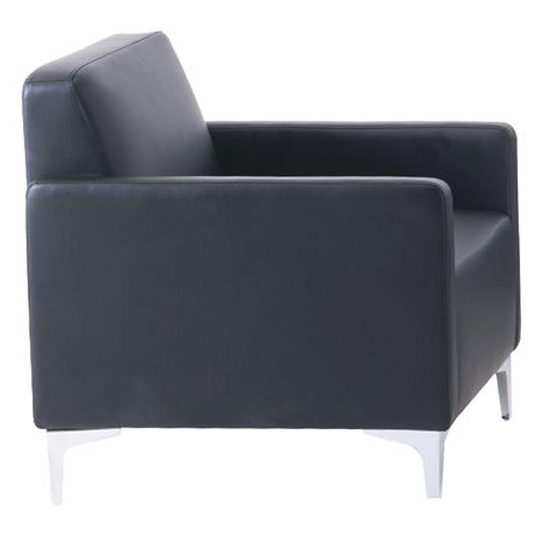 Πολυθρόνα Style Ε948,12 K/D Pu Μαύρο 64x71x72 cm