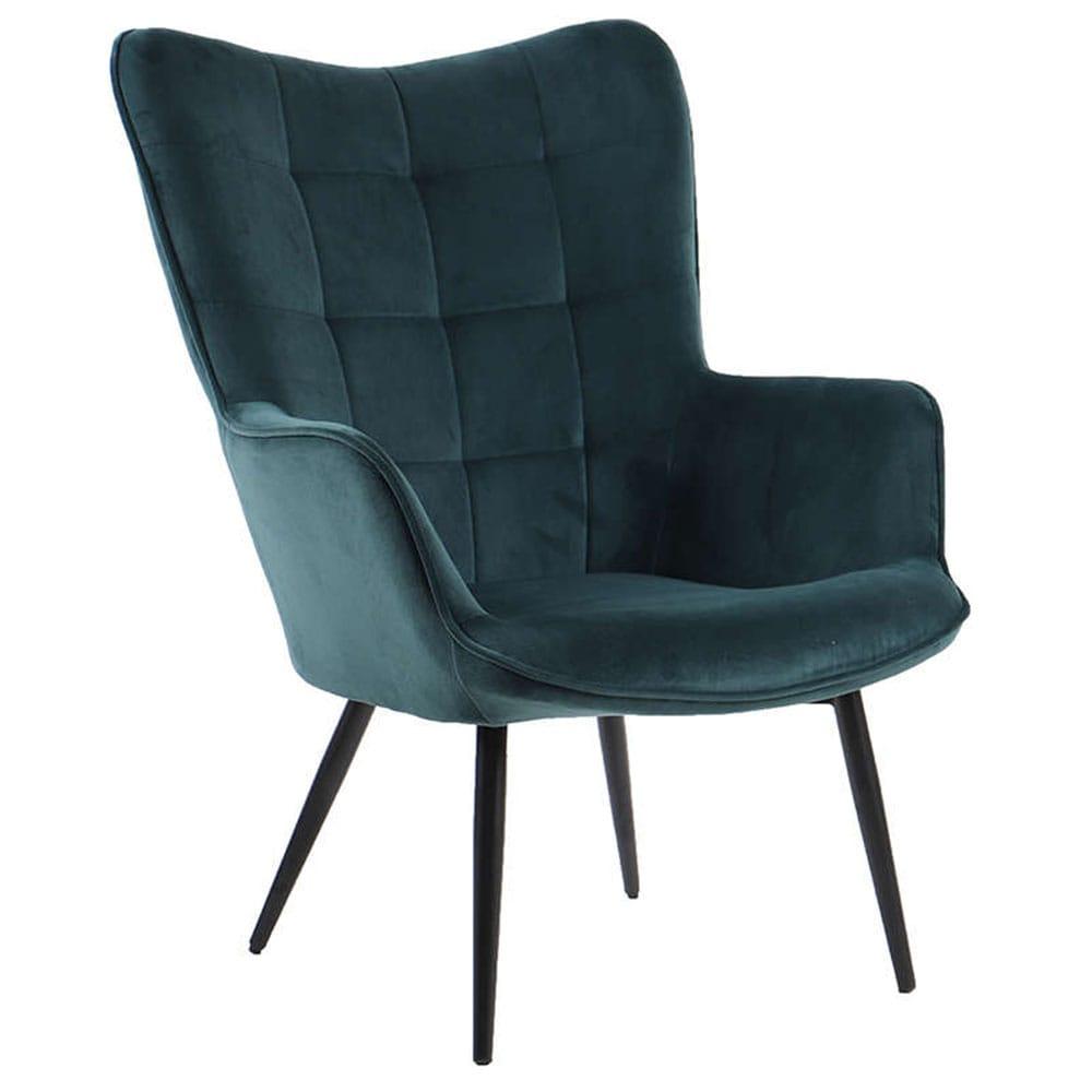 Πολυθρόνα Morgan Green-Black 71x79x99cm 01-2037