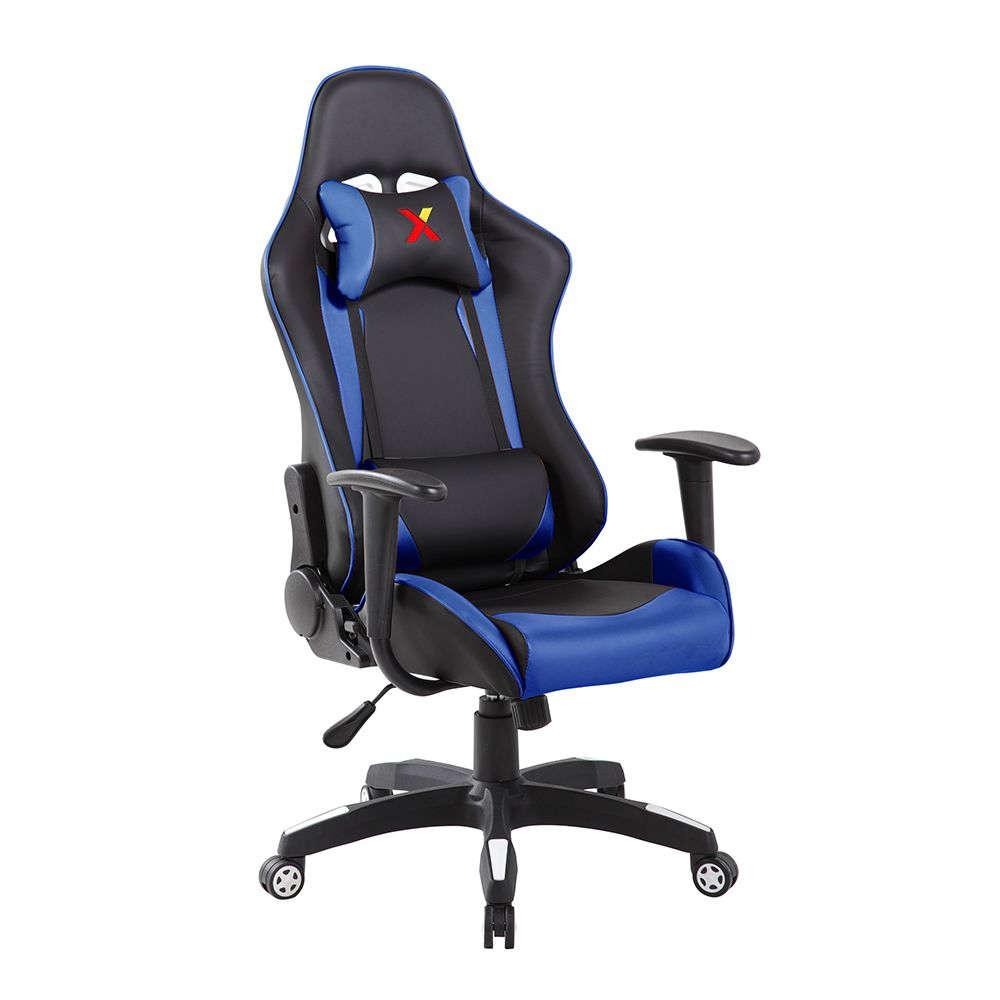 Πολυθρόνα Γραφείου Ex Racer Black-Blue 62,5×56,5×126/136cm 25-0414