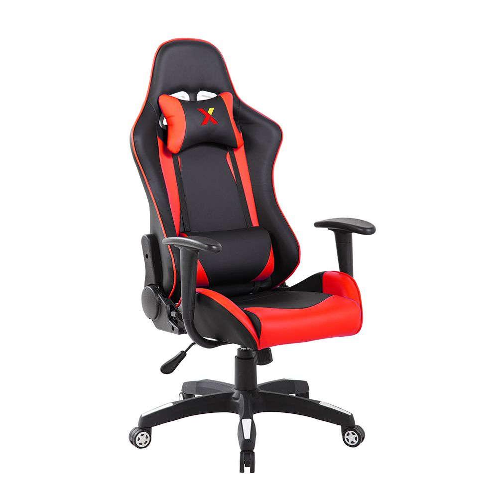 Πολυθρόνα Γραφείου Ex Racer Black-Red 62,5×56,5×126/136cm 25-0413