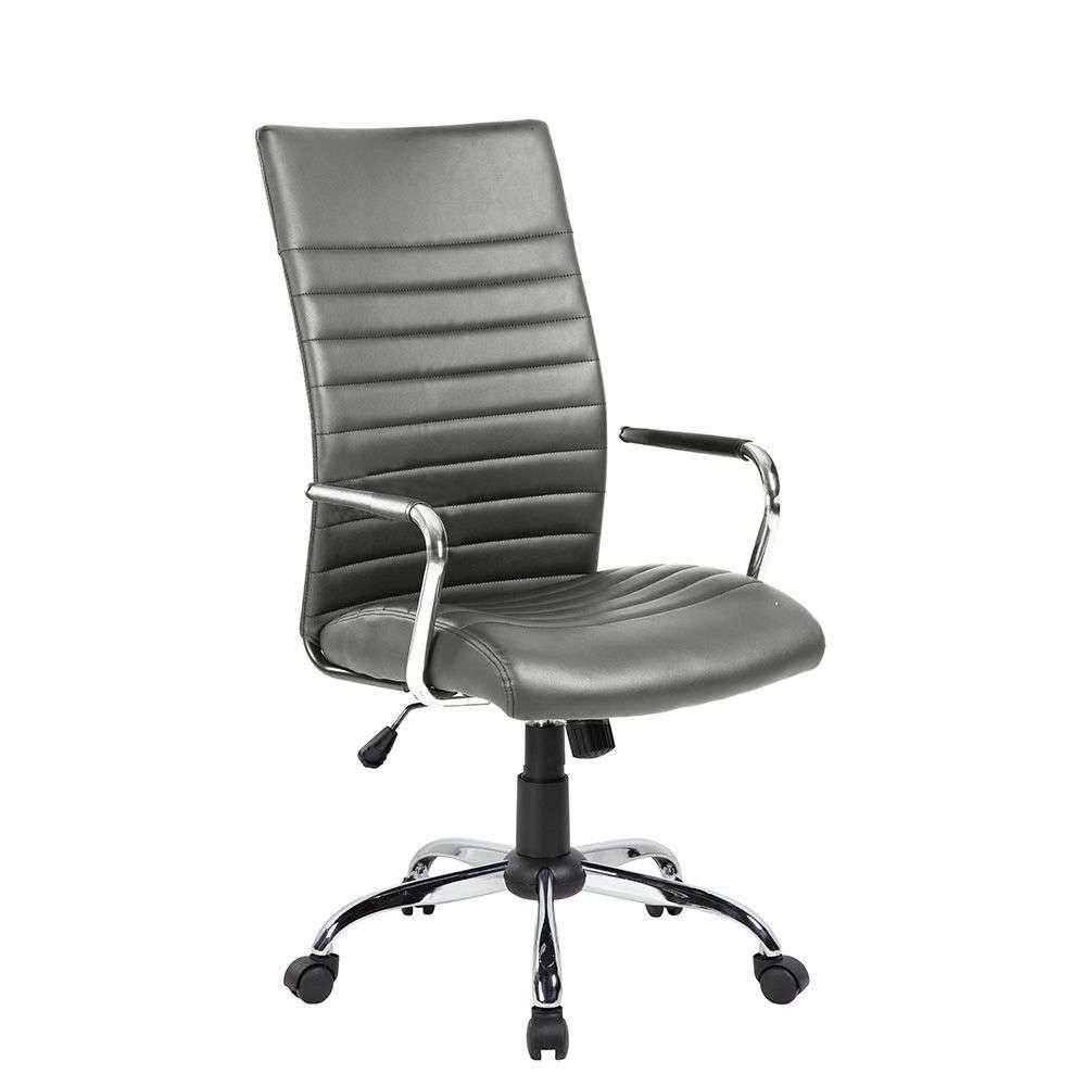 Πολυθρόνα Γραφείου Riga Grey 65x63x108/118cm 25-0409