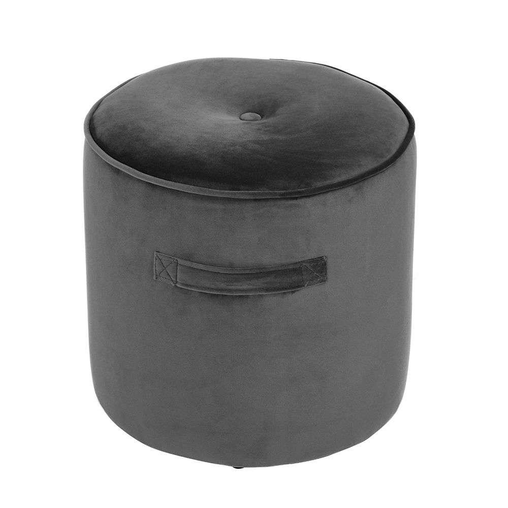 Σκαμπό Nomads Grey D38x38cm 16-0253