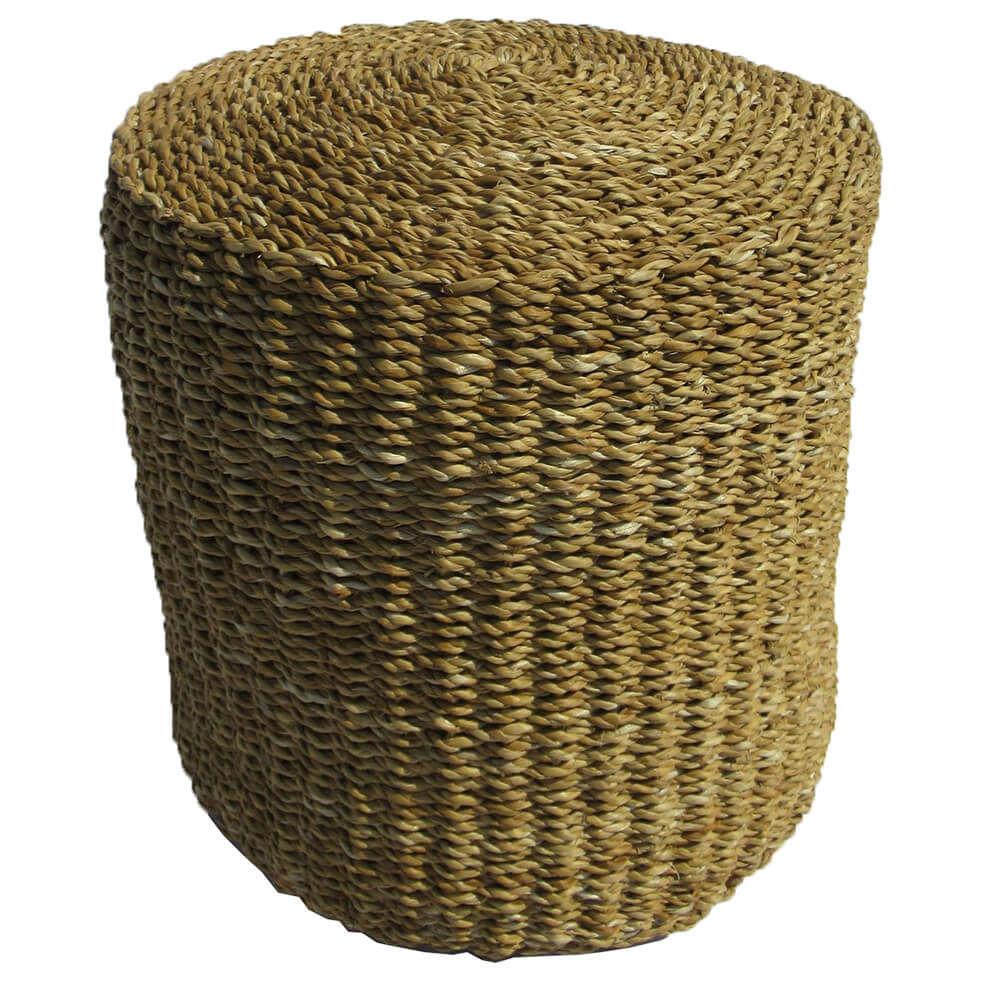 Σκαμπό Seagrass Natural D.40x40cm 16-0353