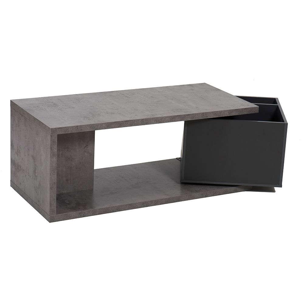 Τραπεζάκι Cement-Dark 110x50x44cm 04-0257