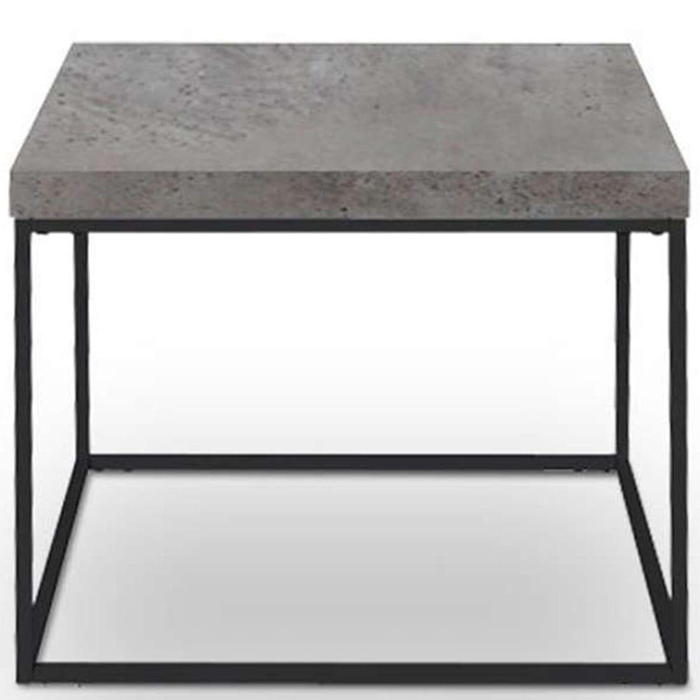 Τραπεζάκι Edra Brown Cement-Black 59x59x50cm 04-0273