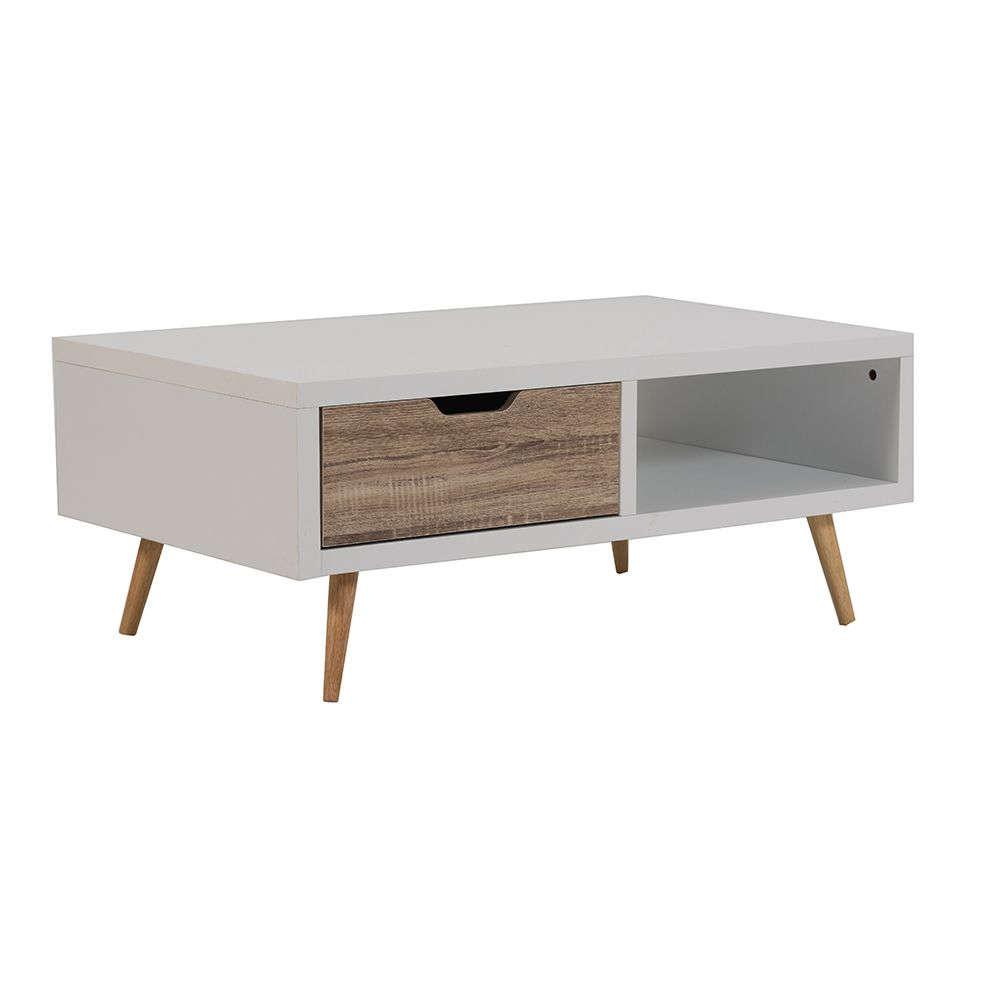 Τραπεζάκι Sonoma-White 100x59x40cm 04-0256