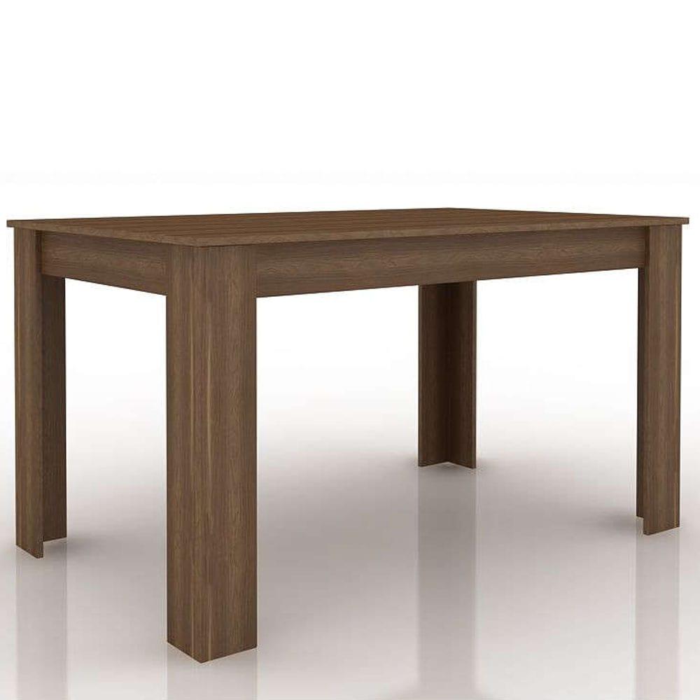 Τραπέζι Alpi Καρυδί-Black 137x85x76cm 02-0231
