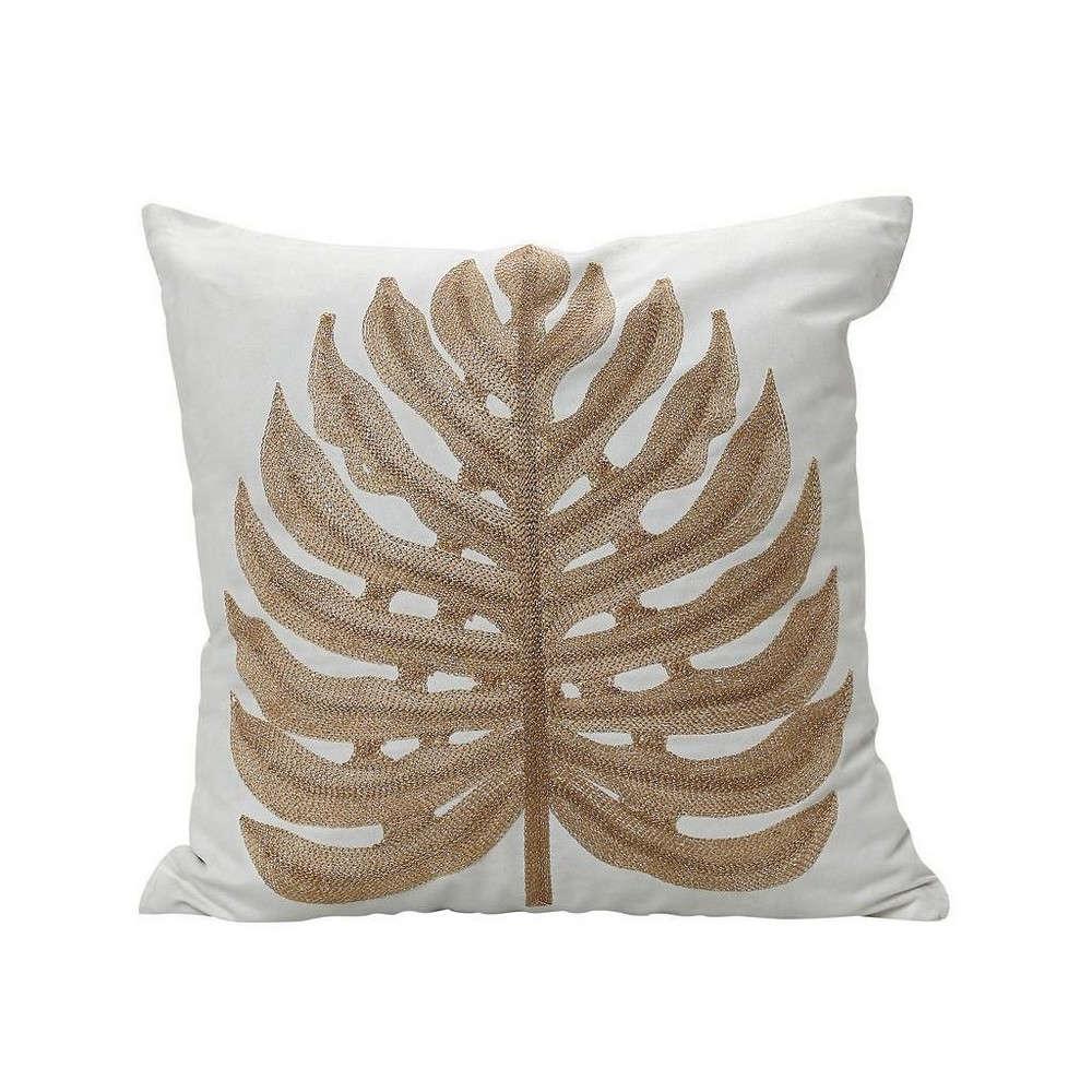 Μαξιλάρι Διακοσμητικό (Με Γέμιση) Φοίνικας GIK130 Χρυσό-Λευκό Espiel 100% Βαμβάκι