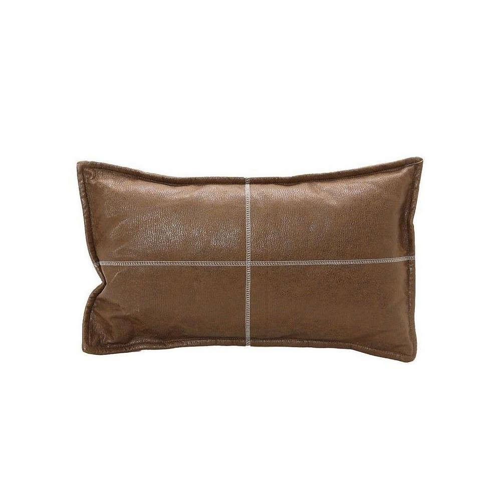 Μαξιλάρι Διακοσμητικό (Με Γέμιση) XAM101 Καφέ Espiel 30Χ50 Τεχνόδερμα