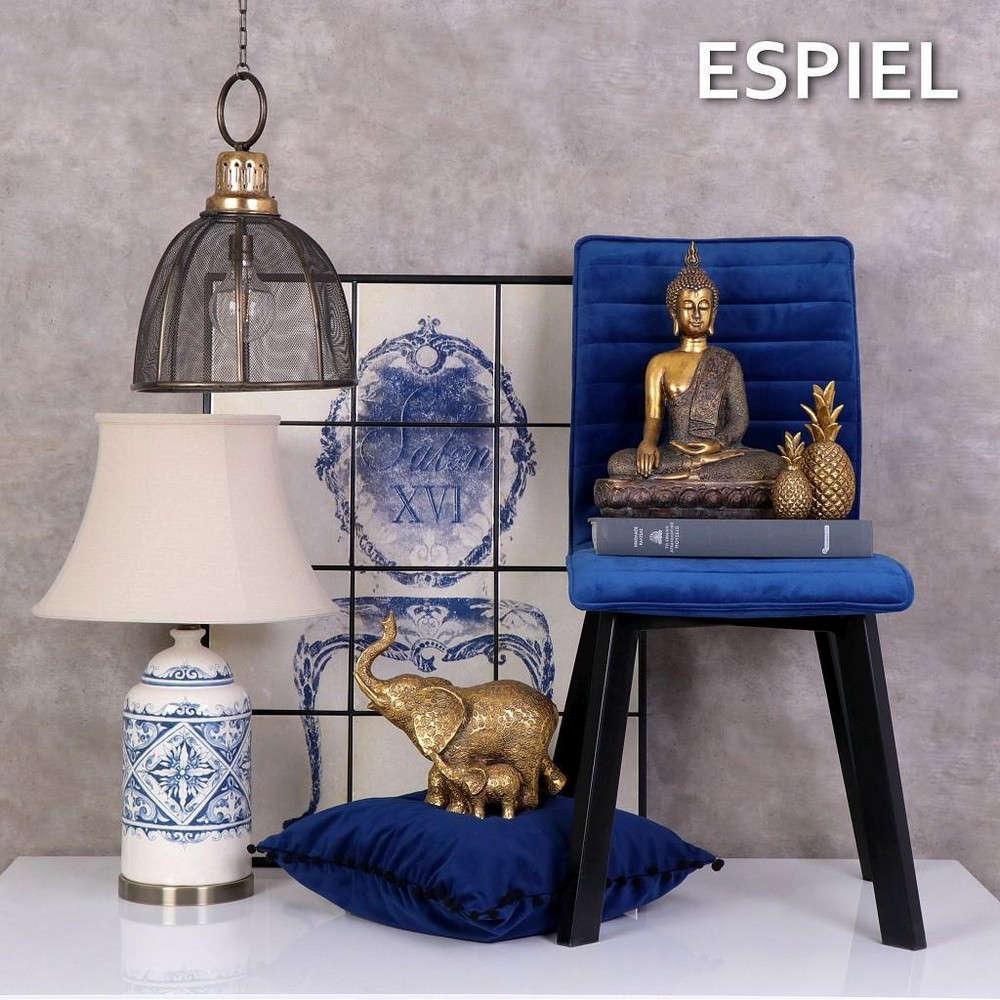 Μαξιλάρι Διακοσμητικό (Με Γέμιση) XAM116 Μπλε Espiel 45X45 100% Βαμβάκι
