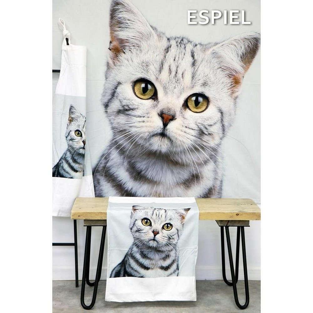 Τραπεζομάντηλο Γάτα HEM226 Γκρι Espiel 120X120