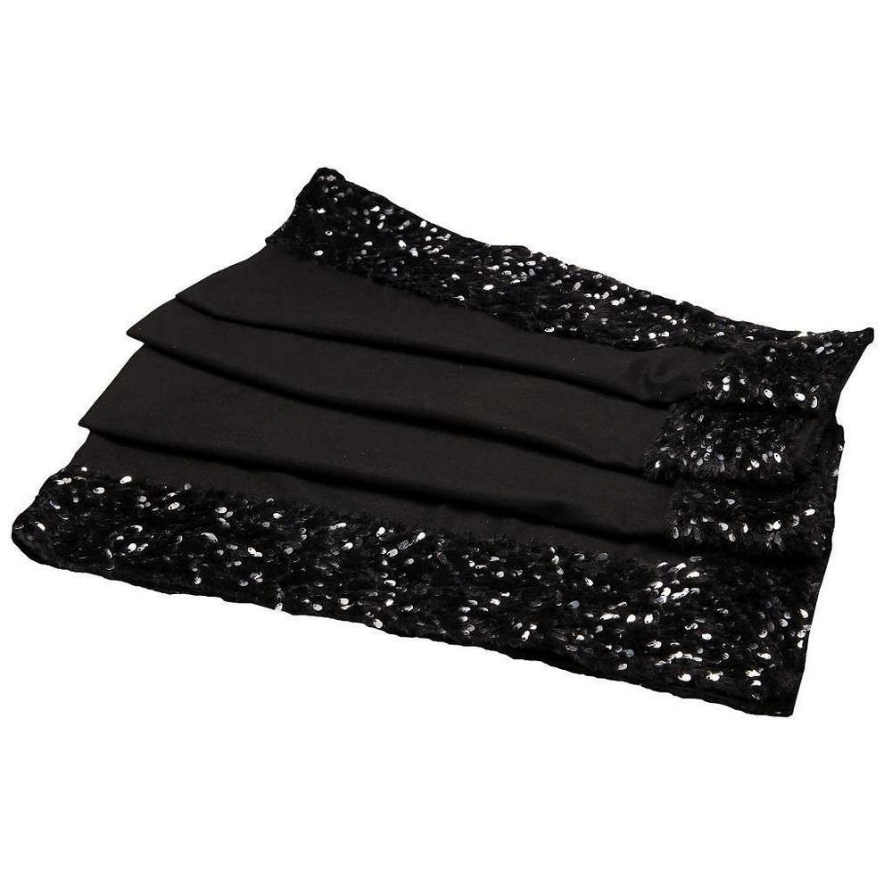 Τραπεζομάντηλο Με Παγιέτες HEM107 BLACK Espiel 150X200