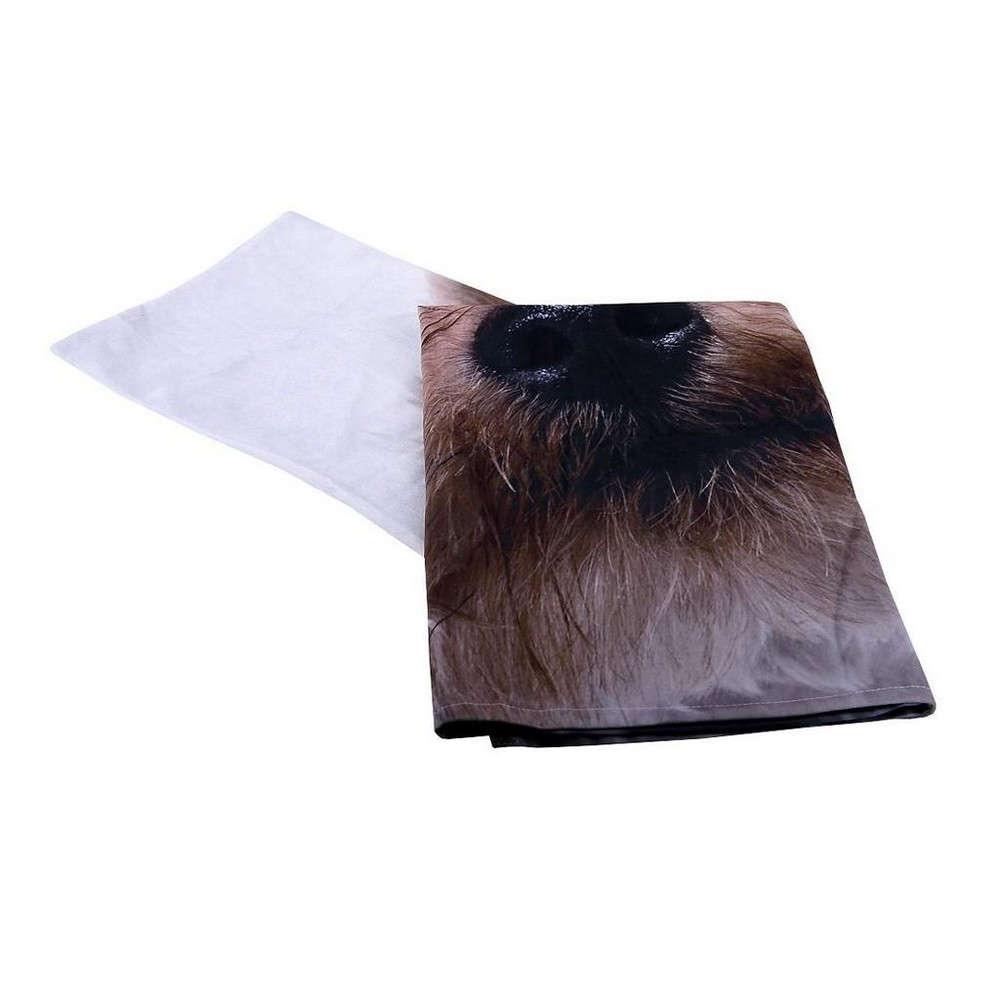 Τραπεζομάντηλο Σκύλος HEM237 Άσπρο-Καφέ Espiel 150X200