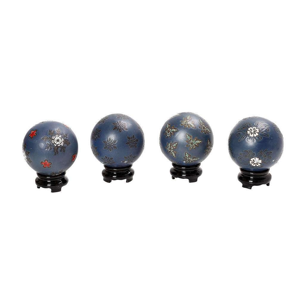 Διακοσμητικές Σφαίρες Assort FEG329K4 Σετ 4Τμχ Πορσελάνινες Μπλε 8X8X8Cm Espiel Πορσελάνη
