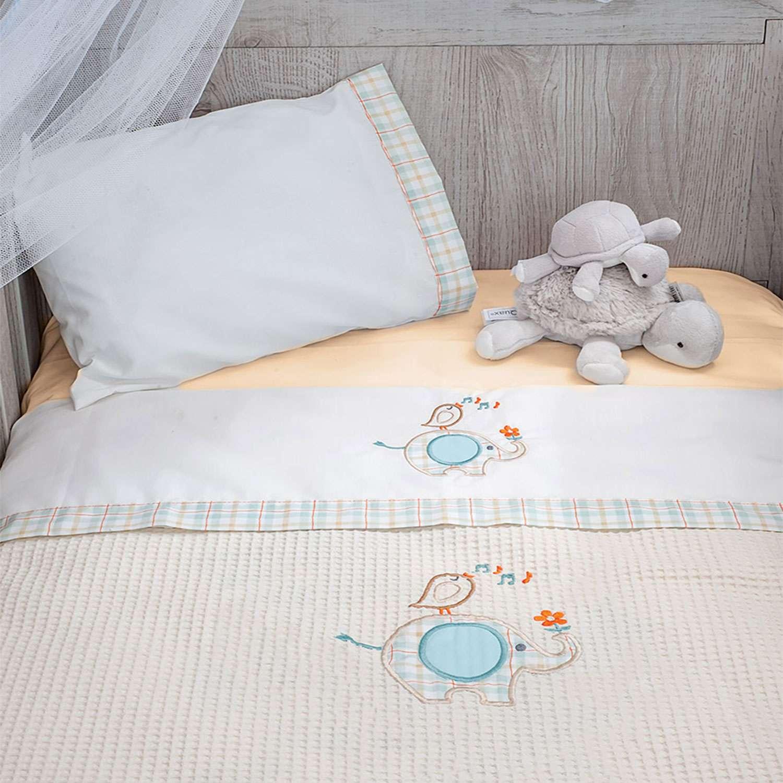 Κουβέρτα Πικέ Des.140 – Elephant Beige Baby Oliver Αγκαλιάς 80x140cm