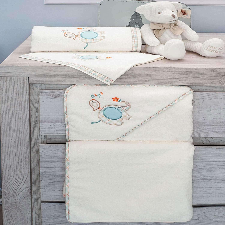 Πετσέτες Σετ 2τεμ. Des.140 Elephant Beige Baby Oliver Σετ Πετσέτες
