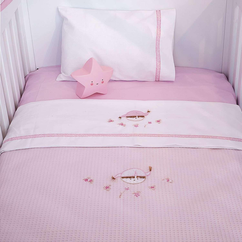 Σεντόνια Σετ 3τεμ. Des.142 – Pink Booboo Pink Baby Oliver Κούνιας 110x165cm