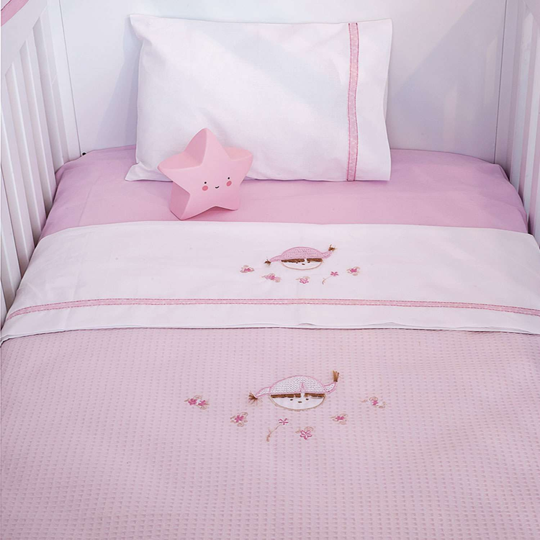 Κουβέρτα Πικέ Des.142 – Pink Booboo Pink Baby Oliver Κούνιας 100x140cm