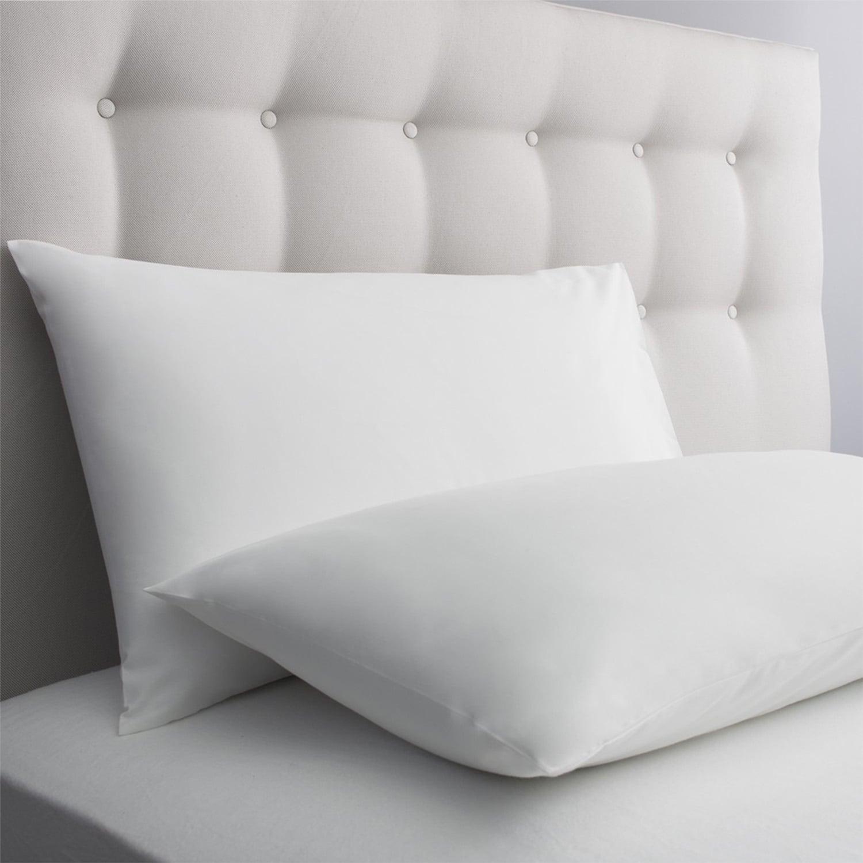Μαξιλαροθήκη Ξενοδοχείου Oxford Σατέν Με Ρίγα White 54Χ75 100% Cotton Satin 240TC 55X75 54x75cm