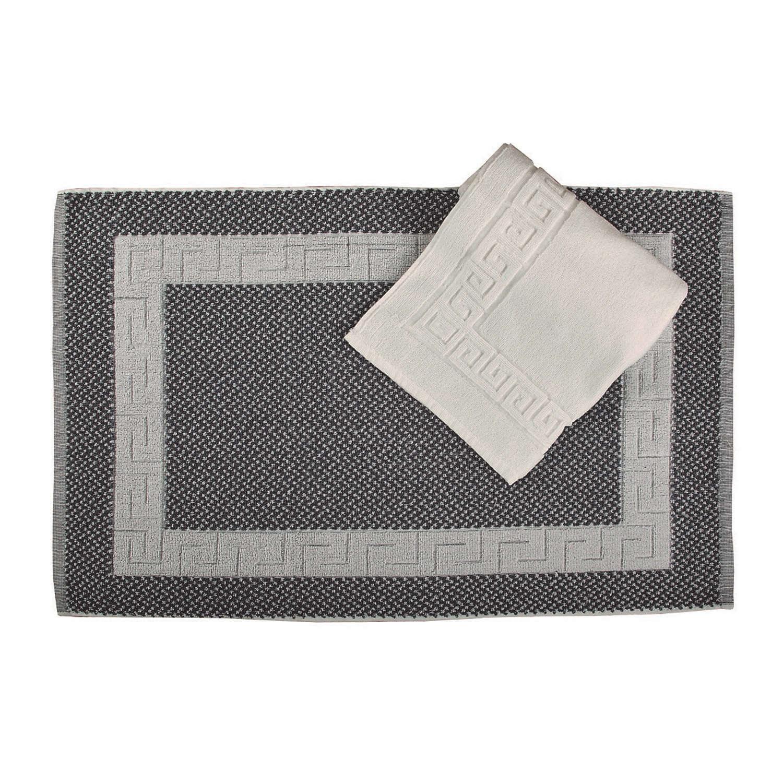 Πατάκι Ξενοδοχείου Μαίανδρος Grey 100% Cotton Medium 50x75cm