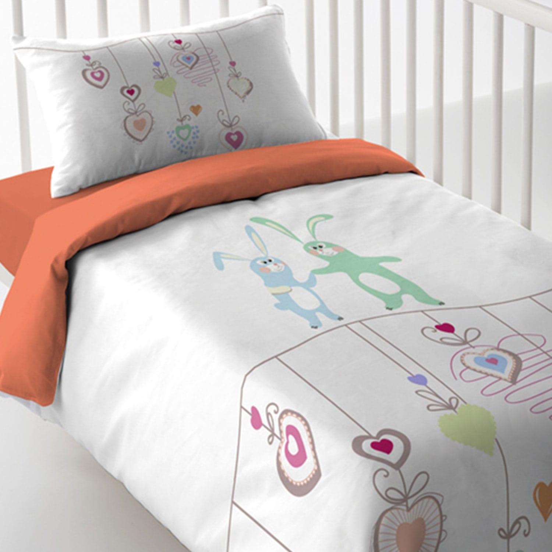 Σεντόνια Βρεφικά Σετ Magic Print Baby 2181 Beige-Orange Vesta Κούνιας 120x60cm