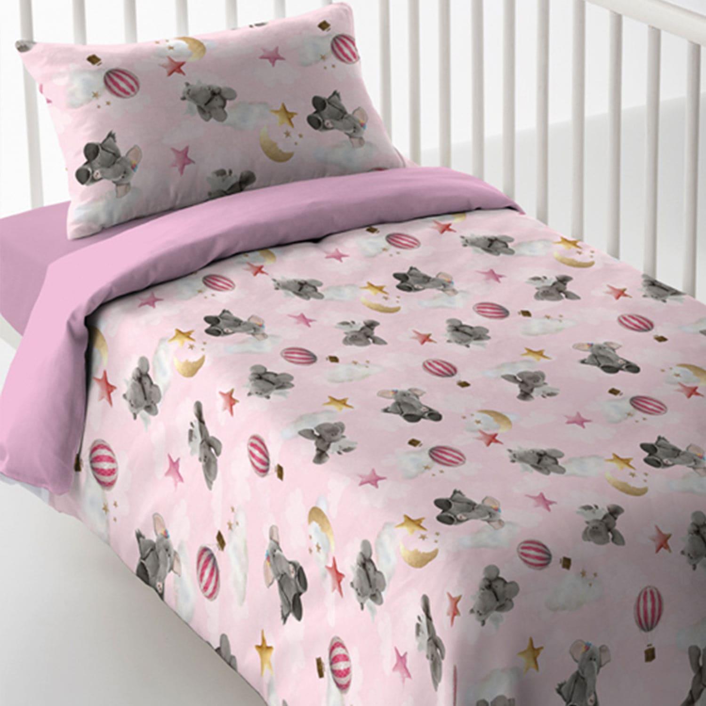 Σεντόνια Βρεφικά Σετ 3τμχ Magic Print Baby 2184 Pink Vesta Κούνιας 120x60cm