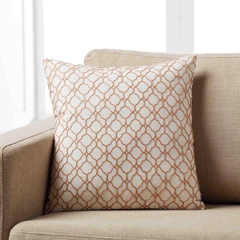 Μαξιλαροθήκη Sando 974/25 Kεντημένη Pink Gofis Home 45X45 Βαμβάκι-Polyester