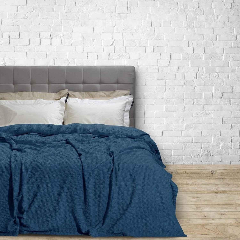 Κουβέρτα Πικέ 2414 Blue G.P.C. Υπέρδιπλo 220x240cm