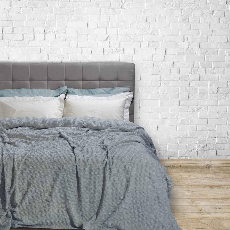 Κουβέρτα Πικέ 2412 Grey G.P.C. Υπέρδιπλo 220x240cm