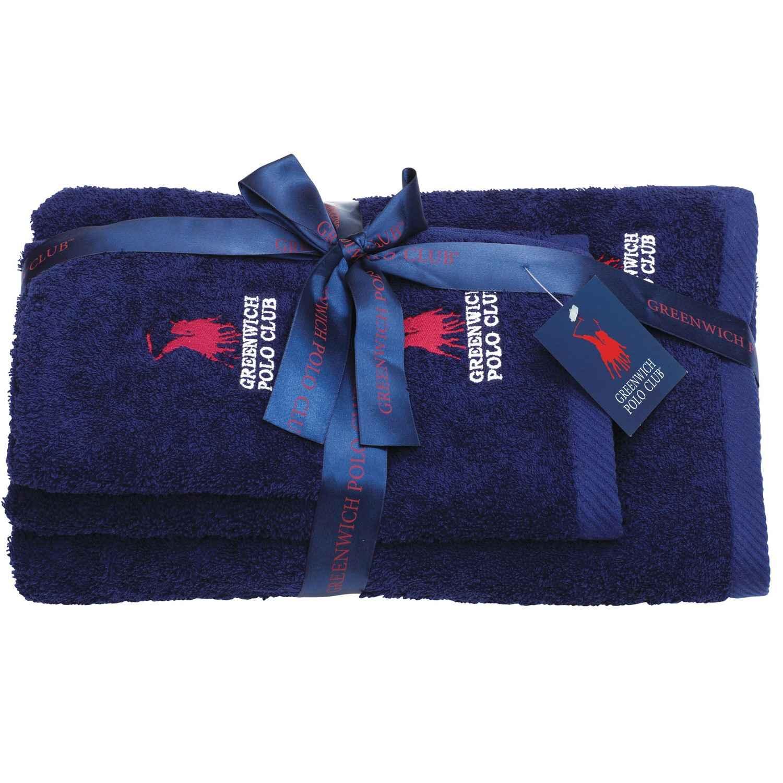 Πετσέτες Σετ 2502 Dark Blue G.P.C. 3τμχ Σετ Πετσέτες