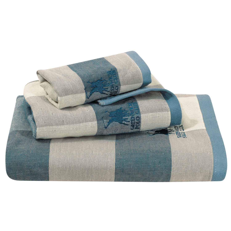 Πετσέτες Σετ 2523 Blue G.P.C. 3τμχ Σετ Πετσέτες
