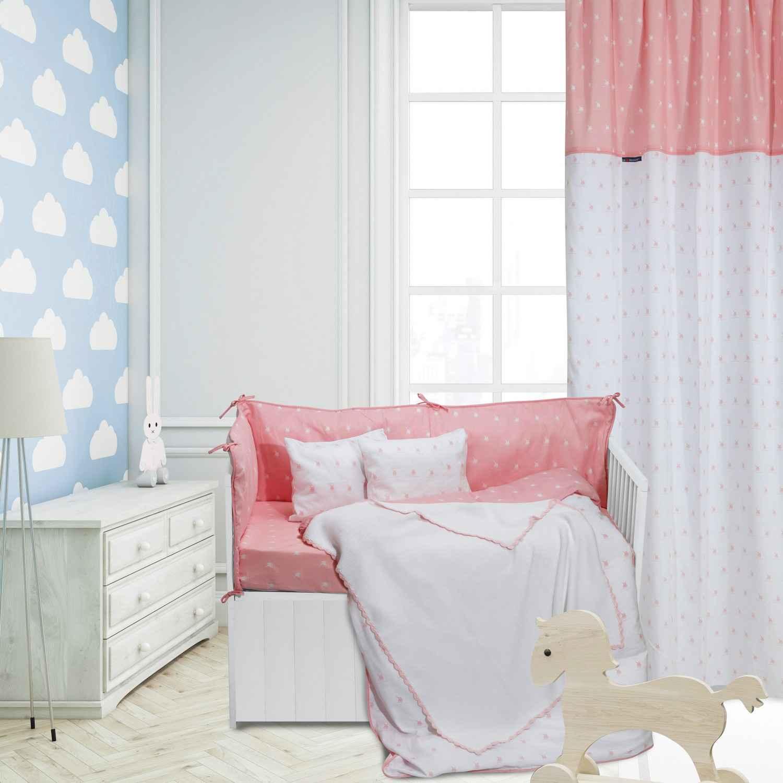 Κουβέρτα Baby Πλεκτή 2944 White-Pink G.P.C. Αγκαλιάς 75x100cm