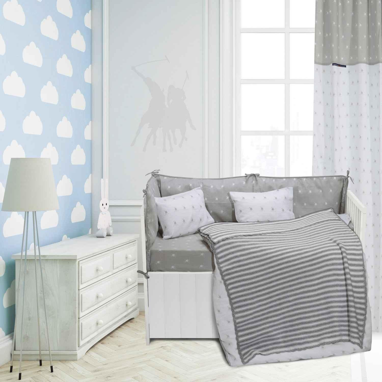 Κουβέρτα Baby Πλεκτή 2946 White-Grey G.P.C. Αγκαλιάς 75x100cm