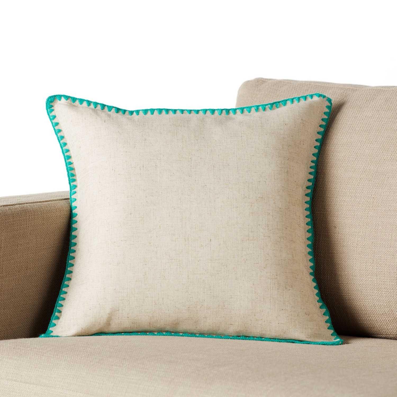 Μαξιλαροθήκη 874/11 Aqua Gofis Home 40Χ40 Λινό-Polyester