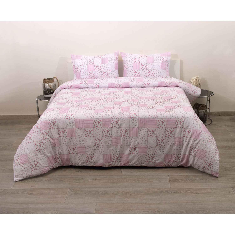Σεντόνια Σετ 4Τμχ. Σχ. 31907 Pink Viopros Υπέρδιπλo 240x275cm