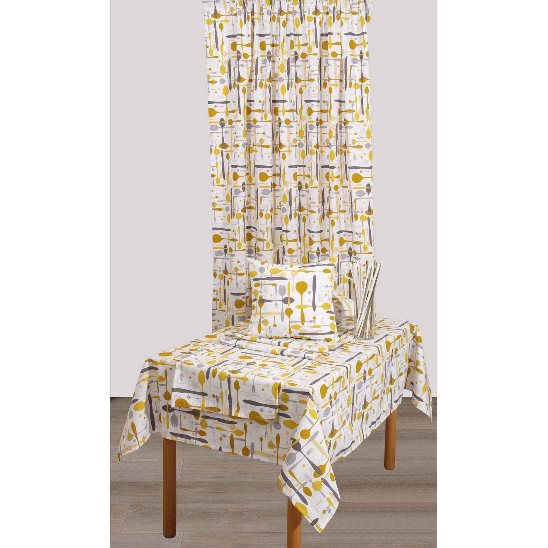 Διακοσμητικό Μαξιλάρι με Γέμιση Ντιζόν Yellow-Blue Viopros 45X45 Βαμβάκι-Polyester