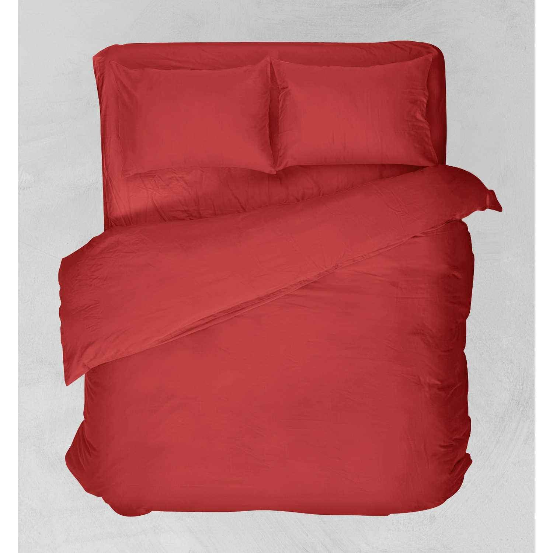 Σεντόνι Με Λάστιχο Basic Κόκκινο Viopros Υπέρδιπλo 160x200cm